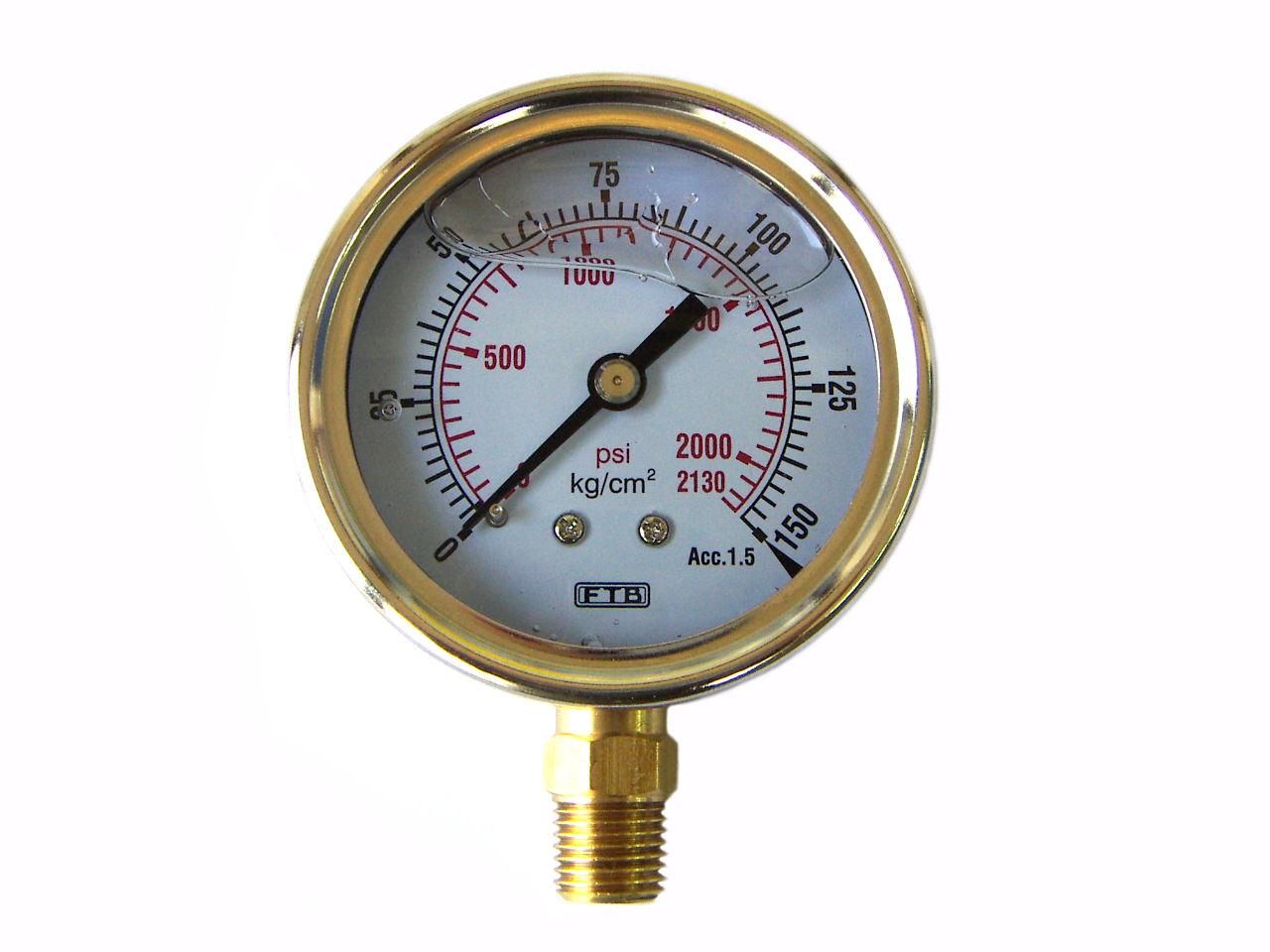 直立式充油壓力計