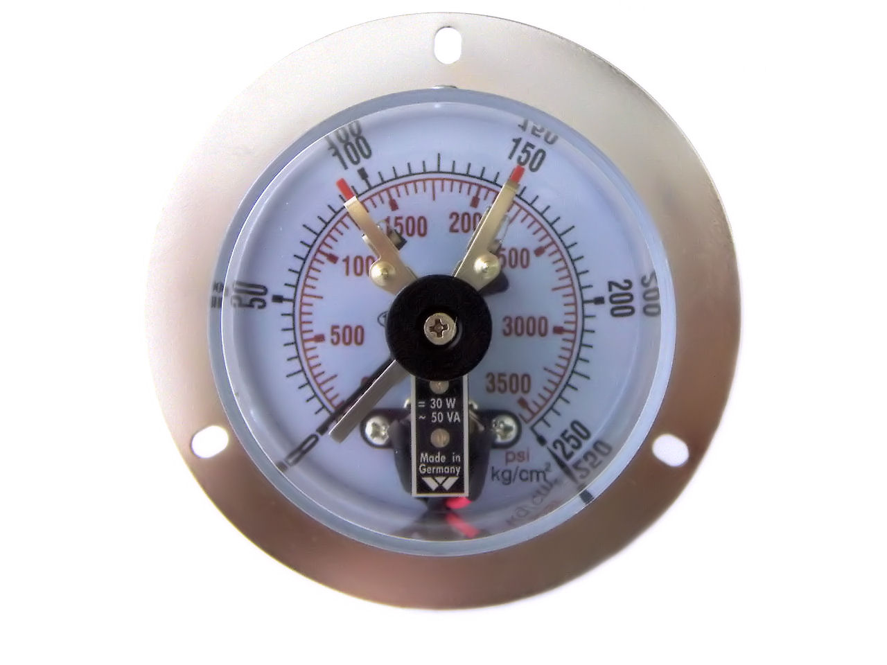Electrical Contact Pressure Gauges and Manometers, Pressure Gauge ...