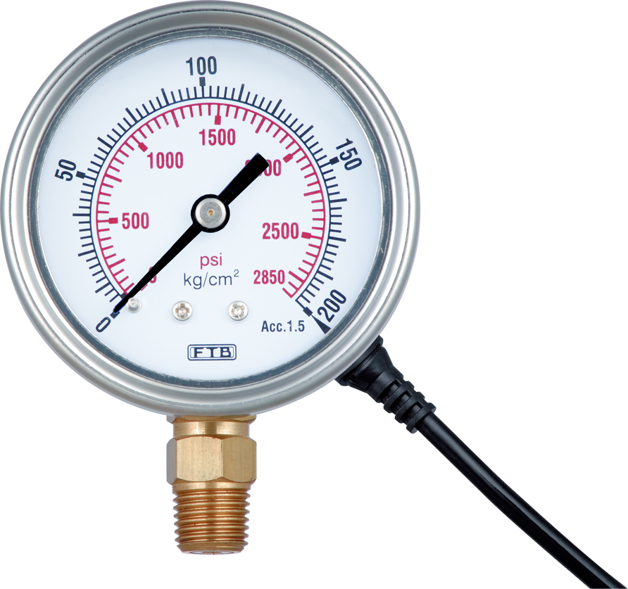 Hydraulic and Pneumatic Pressure Gauge with Switches